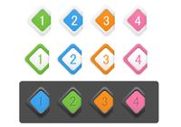 Diamond Numbered Icon PSD Pack