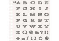 Sketchy Alphabet Brushes e Punctuation Brush Pack