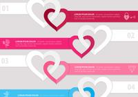 Linked Heart Banner PSD Pack