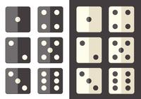 Flat dice icon psd pack