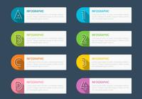 Pacote PSD Infographic Tag