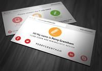 Bright Business Card PSD Template