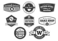 Vintage Badge Brushes Pack: Vol. 2