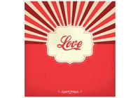 Sunburst love background