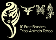 Tribal-animals-tattoo-brushes