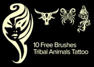 Tribal Animals Tattoo Brushes