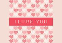 Cross Stitched I Love You Contexte du PSD