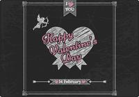 Chalk Drawn Valentine's Day PSD Background