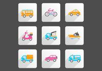 Pack de iconos de transporte brillante PSD