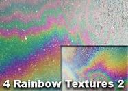 4 Regenbogen-Beschaffenheiten