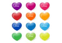 Glossy Heart Button PSD Pack