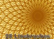 28 Pinceles de líneas gráficas
