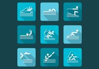 Vattensportborstar och Sports Icon PSD Pack