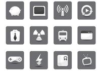 White Miscellaneous Icon PSD Pack