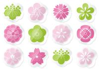 Flower Sticker PSD Pack