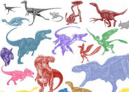 Mix Dinosaur Brushes
