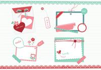 Girly scrapbook elements psd
