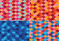 Färgglada Fish Scale Backgrounds PSD