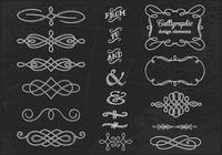 Chalk Drawn Calligraphic Ornament PSDs