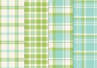 Fresh Blue Green Seamless Plaid Patterns PSD