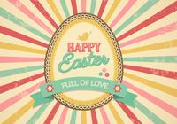 Retro Sunburst Easter Egg PSD Background