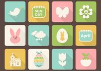 Easter Icon PSD Pack