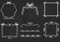 Chalk Drawn Ribbon Frame e Border PSD Pack