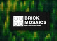 Brick Mosaics Photoshop Aktionen