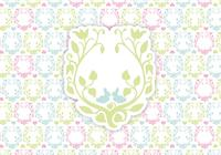 Floral happy easter background psd