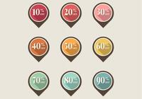 Retro Discount Pointer Tag PSD Pack