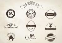 Retro Organic Labels Brushes