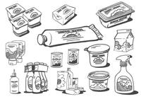 Sketched Food Products Bürsten