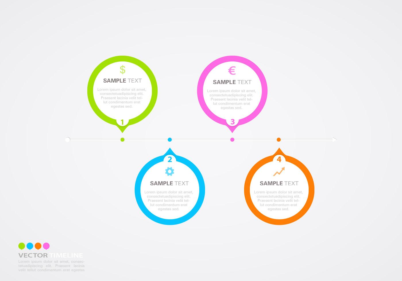 Línea de tiempo horizontal Infographic PSD Template - ¡Pinceles de ...