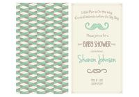 Baby shower shower invitation psd