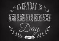 Chalk Drawn Earth Day Wallpaper PSD