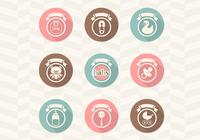 Retro Baby Pictogrammen PSD Collection