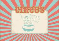 Retro Circus Background PSD