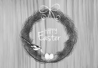 Feather Easter PSD Background