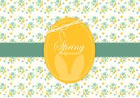 Floral Spring Easter Background PSD