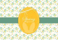 Floral Spring Easter Background PSD