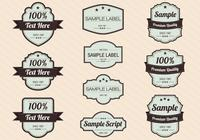 Retro label psd pack