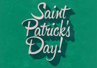 Retro St. Patrick's Day PSD Background