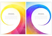 Bright Colored Swirl PSD Background