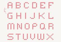 Cross Stitch Alphabet PSD Set
