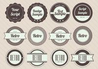Retro badge psd pack