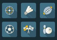 Flat Sport Icons Ensemble PSD