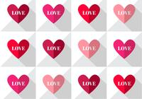 Love Heart Pattern PSD