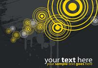 Modern Yellow and Gray Target Background PSD