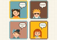 Pixel Kids Avatars PSDs