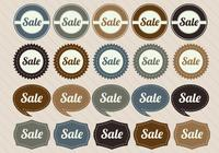 Retro Sale Badge PSD Pack
